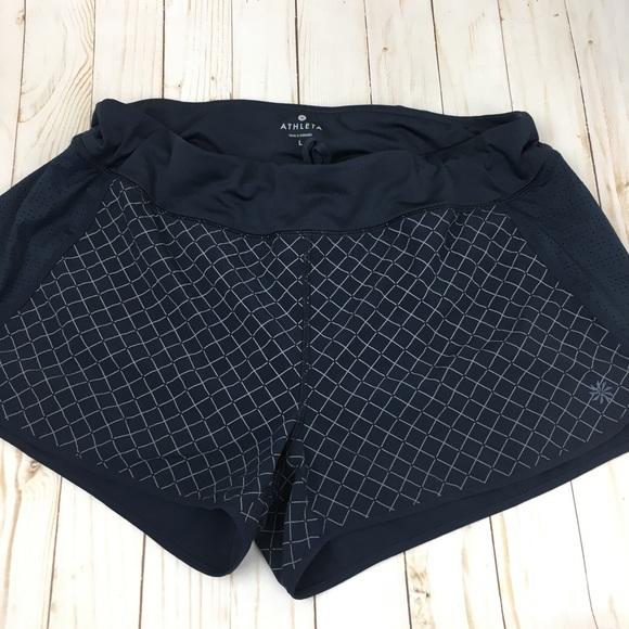 Athleta Pants - Athleta Blue Patterned Large Athletic Shorts